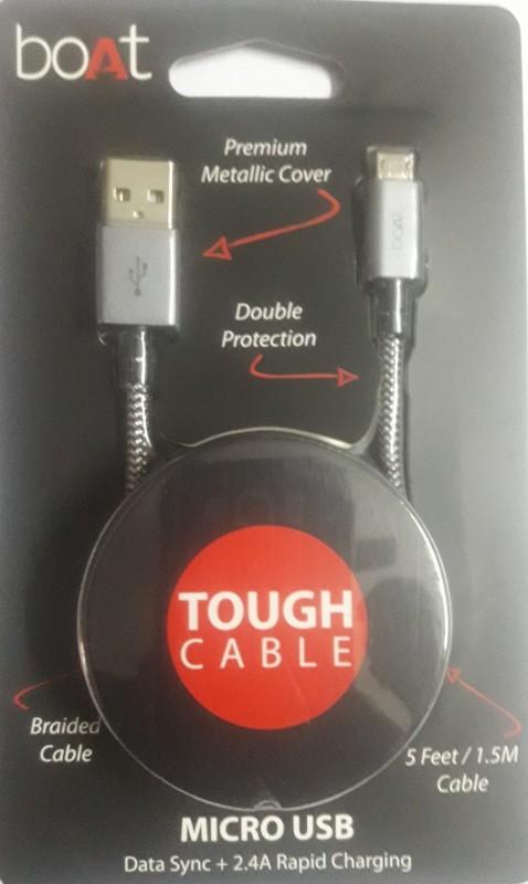 boAt Micro USB 300-1.5-BG USB Cable(Black & Grey)