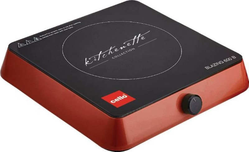 Cello Blazing 600 B Induction Cooktop (Black, Red, Jog Dial) Induction Cooktop(Black, Red, Jog Dial)