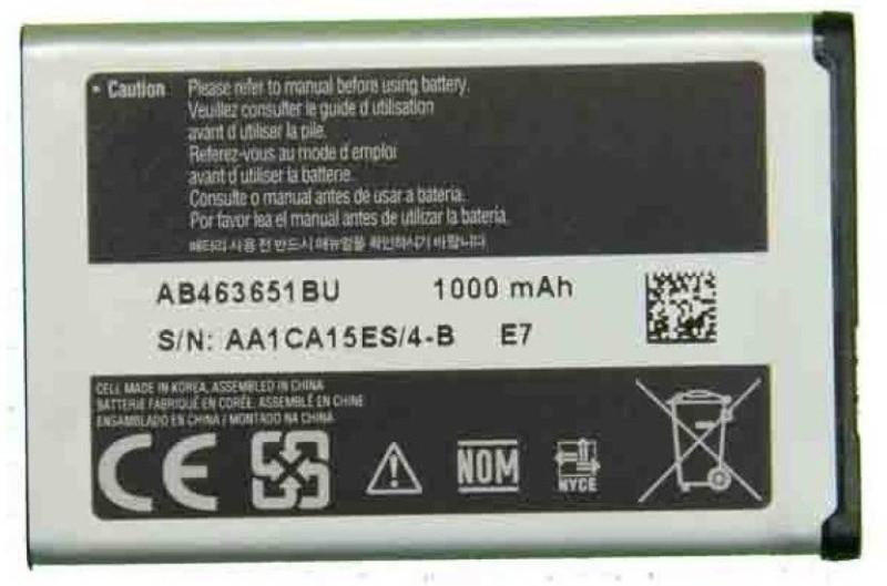 BOOM  Battery - SAM OG Mobile Battery For L700,/Chat 322 C3222/GURU Music 2 B310E/Metro 313 B313E(Silver)