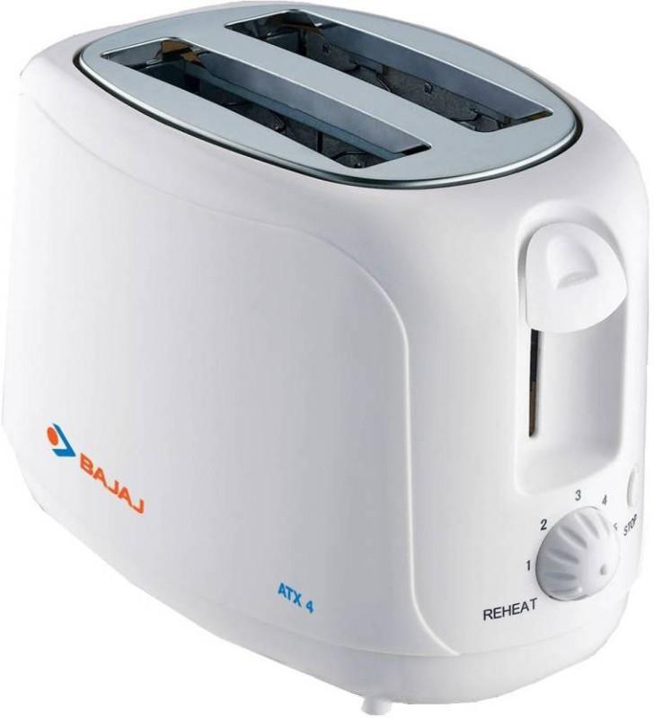 Bajaj ATX4 750 W Pop Up Toaster(White)