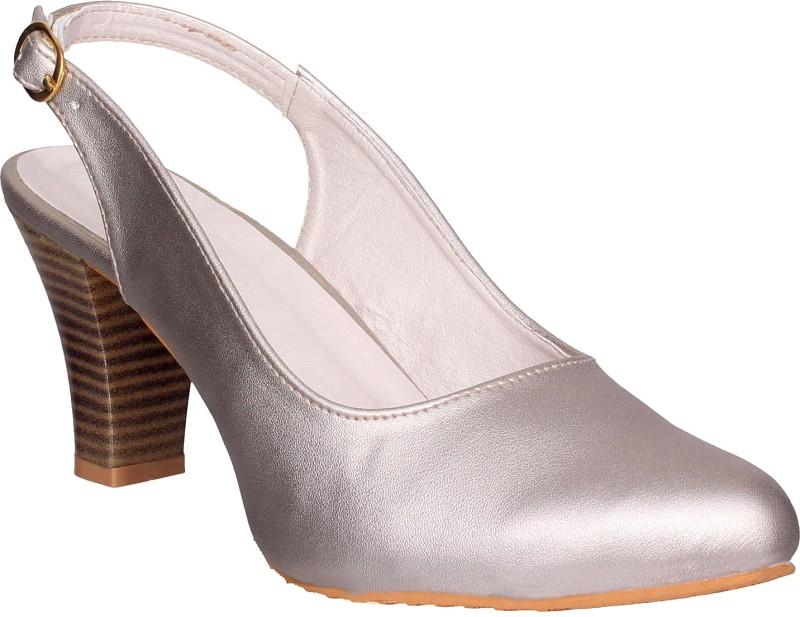 London Steps Women Silver Heels