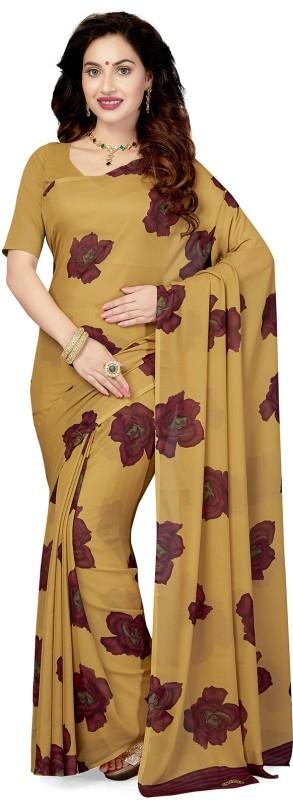 Ishin Printed Bollywood Georgette Saree(Beige)