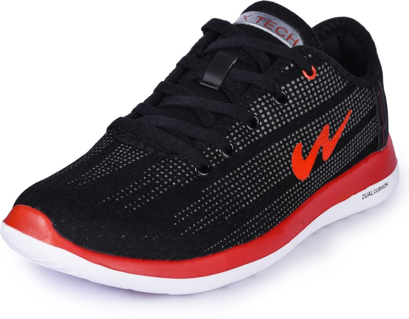 Campus BATTLE X-10 Running Shoes For Men(Black, Red)