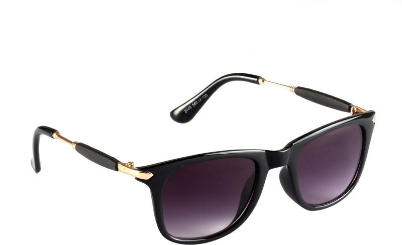 Tentacool Wayfarer Sunglasses(Black, Grey) image