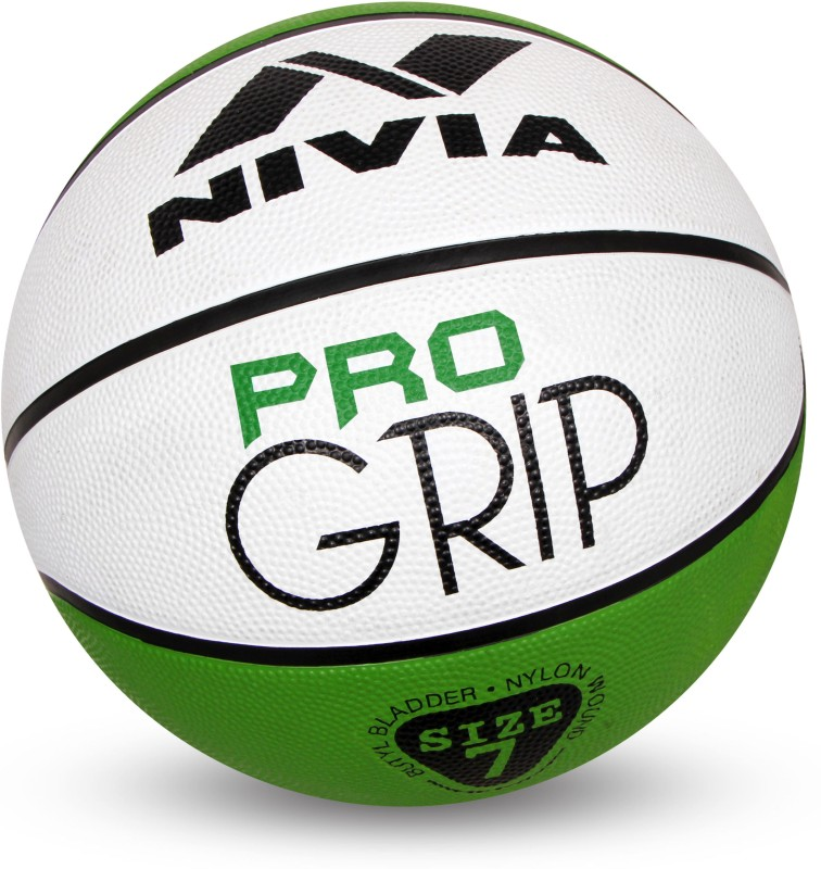 Nivia Pro Grip Basketball - Size: 7(Pack of 1, Green)