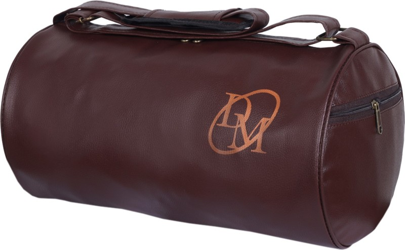 Dee Mannequin Unisex Brown Leatherite Gym Bag(Brown)