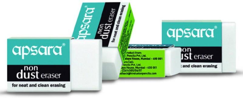 Apsara Non Dust Non-Toxic Eraser(Set of 20, White)