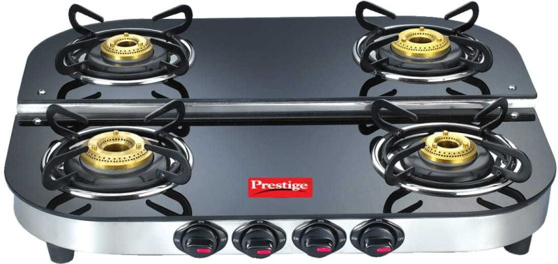Prestige Glass Manual Gas Stove(4 Burners)
