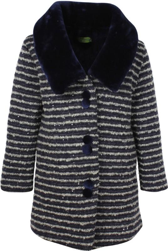 Cutecumber Full Sleeve Striped Girls Jacket