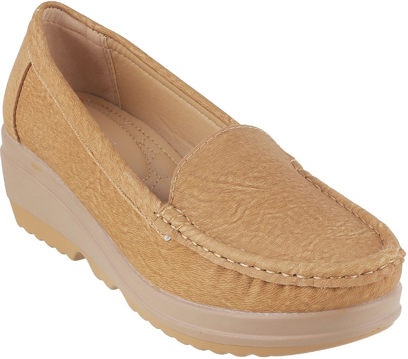 Mochi Awesome Loafers For Women(Beige)