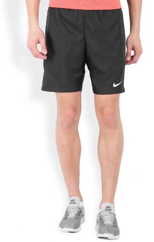 Nike Solid Mens Black Sports Shorts