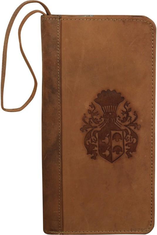 Style 98 Women Tan Genuine Leather Wrist Wallet(8 Card Slots)