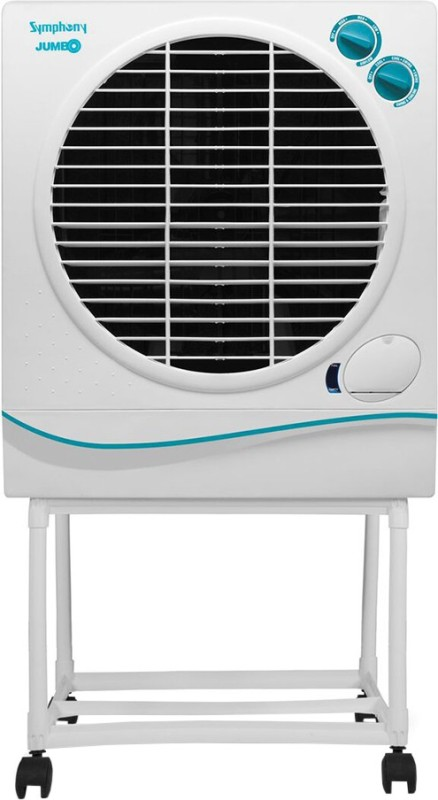 Symphony Jumbo 51 with_Trolley Desert Air Cooler(White, 51 Litres)