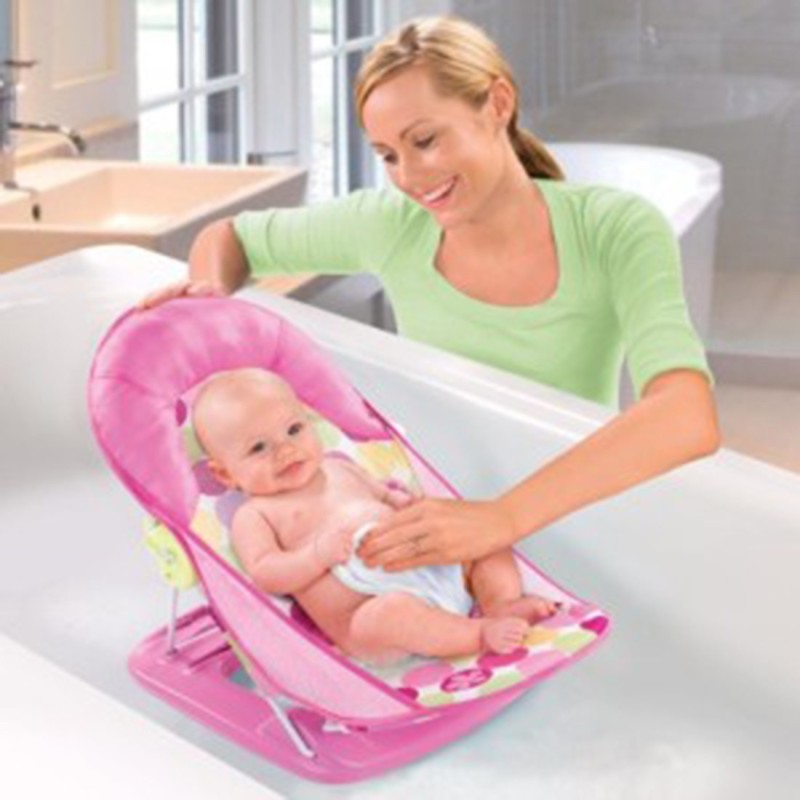 Ole Baby Boat Helicopter Seater Aqua Animal Print Soft Fabric Cradle Baby Bather 0 to 6 months Baby Bath Seat(Peach)