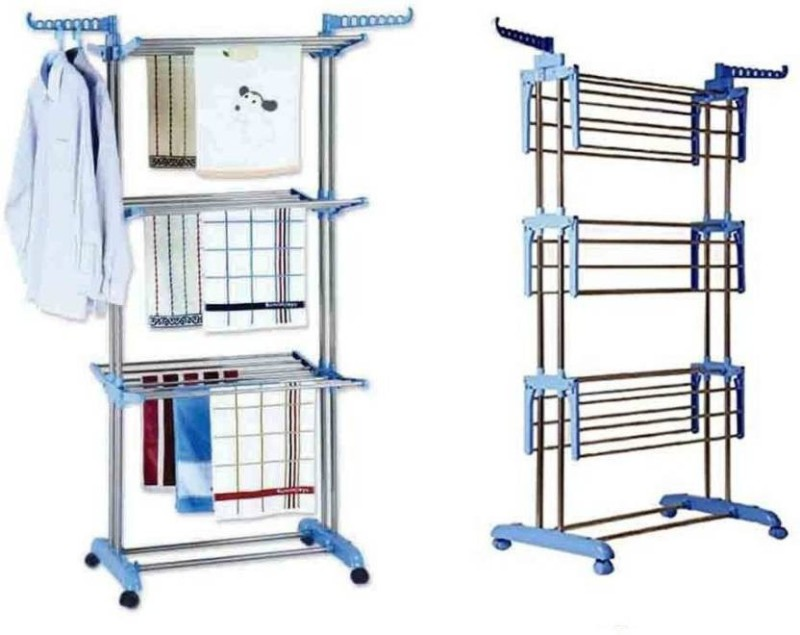 Dealcrox Stainless Steel Floor Cloth Dryer Stand(Multicolor)