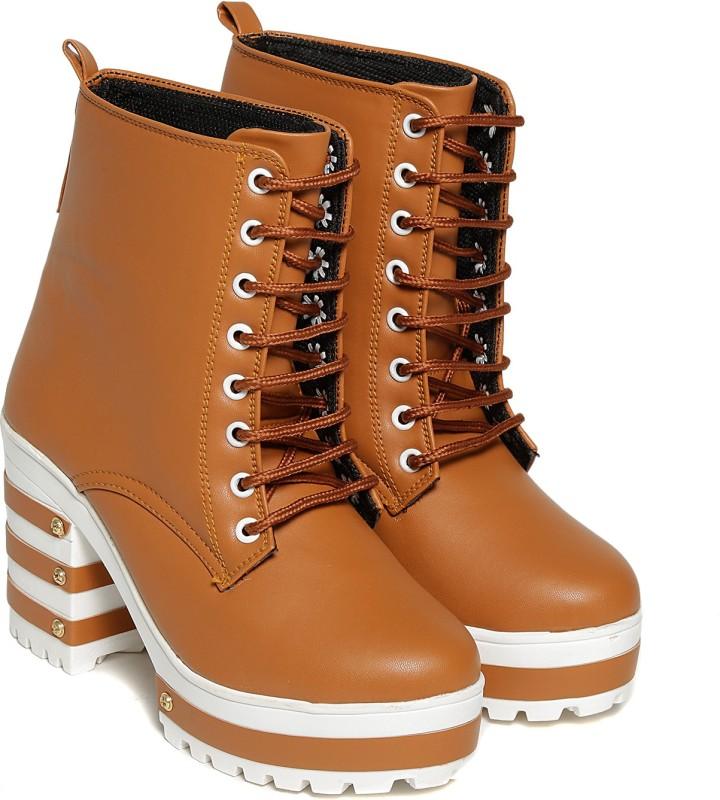 TEN Tan Boots Boots For Women(Tan)