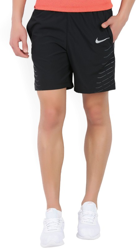 Nike Printed Men Black Sports Shorts