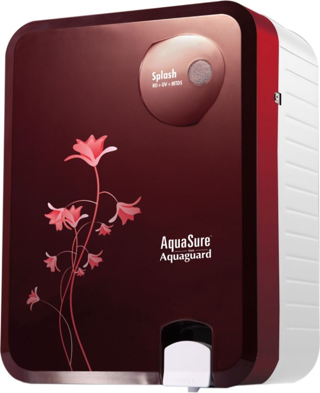 Eureka Forbes Aquasure from Aquaguard Splash 6 L RO + UV + MTDS Water Purifier(Burgundy, White)