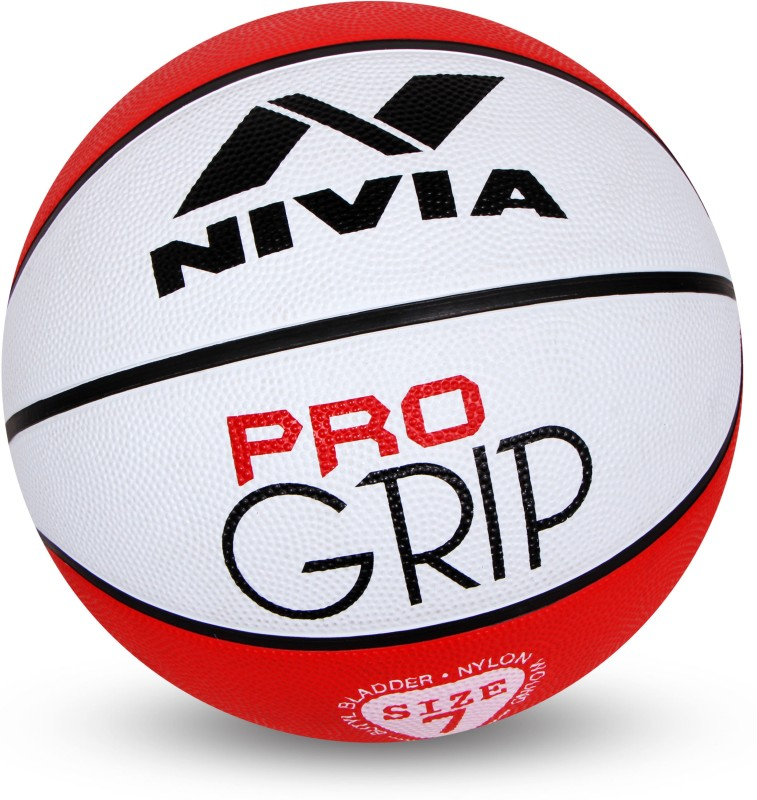 Nivia Pro Grip Basketball - Size: 7(Pack of 1, Red)