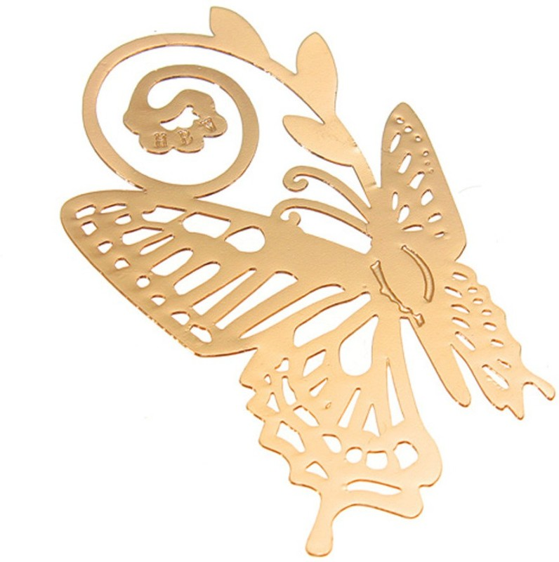 Adraxx Gold-Plated Golden Plated Metal Butterfly Bookmark, An Ideal valentine day Gift For Friends, Family & Loved Ones Metal Clip Bookmark(Classical Exquisite, Golden)