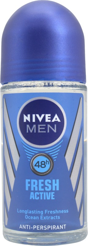 Nivea Men Fresh Active, Ocean Extracts Anti-Perspirant- 50ml Deodorant Roll-on - For Men(50 ml)