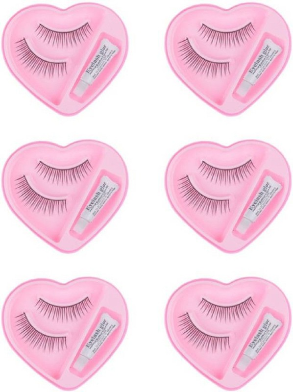 Majik Beautiful Eyelashes With Glue (Pack of 6 Pairs)(Pack of 6)