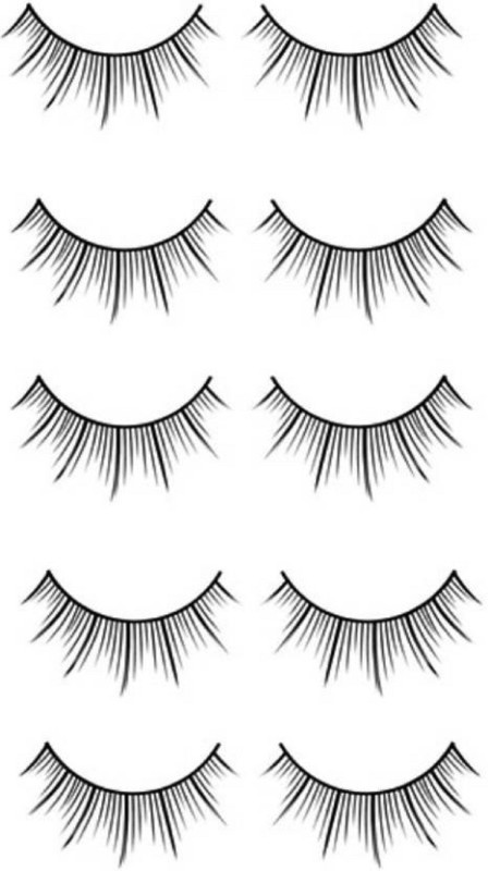 Majik Long Thick False fake Eyelashes(Pack of 10)