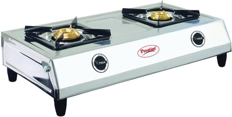 Prestige Steel Automatic Gas Stove(2 Burners)