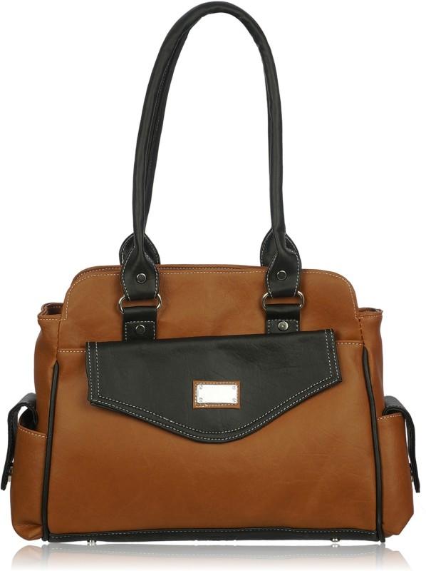 Leather Land Women Brown, Black Shoulder Bag