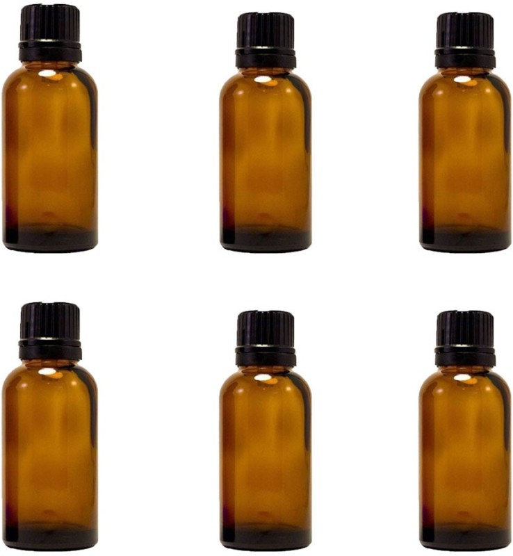Amber 15 (1/2 Fl Oz) Glass Bottle With Euro Dropper for Essential Oils -6bottles Laboratory Dropper Bottle(Glass 15 ml Pack of6)
