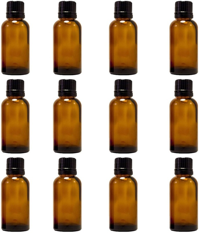 Amber 15 Ml (1/2 Fl Oz) Glass Bottle With Euro Dropper for Essential Oils-12bottles Laboratory Dropper Bottle(Glass 15 ml Pack of12)
