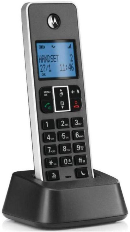 Motorola IT 5.1XI Corded & Cordless Landline Phone with Answering Machine(Black)