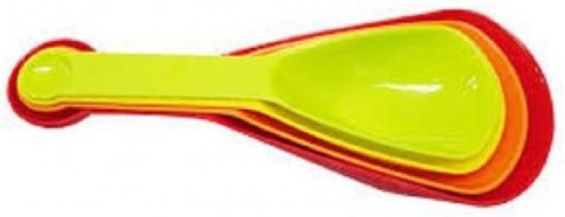 ZEVORA Colourful Plastic Baking 4 Scoops with Measuring Spoons Measuring Cup(250 ml)