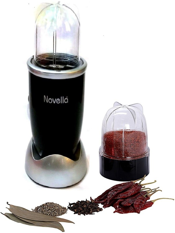 Novella Nutri Mixer Grinder BL-216 218 Mixer Grinder(Black, 2 Jars)