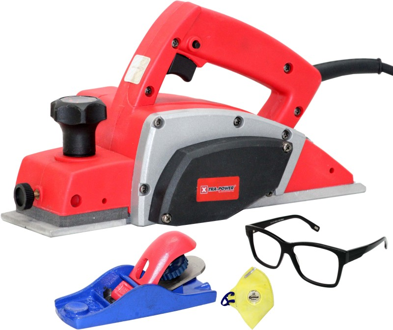 Digital Craft POWERFUL ELECTRIC WOOD HAND PLANER WITH FREE GOGGLES & SAFETY MASK Xtra Power Corded Planer(1-82 mm)