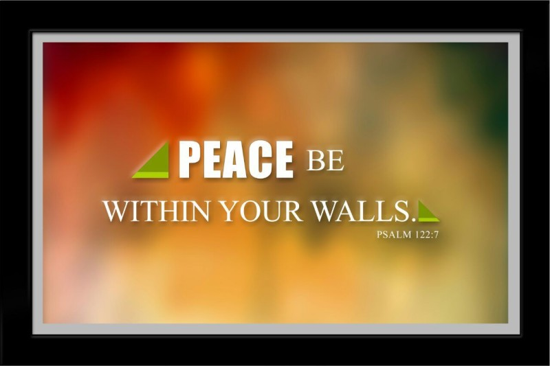 ELBEN CREATIVES Peace Be Within Your Walls Psalm 122 : 7 Religious Frame
