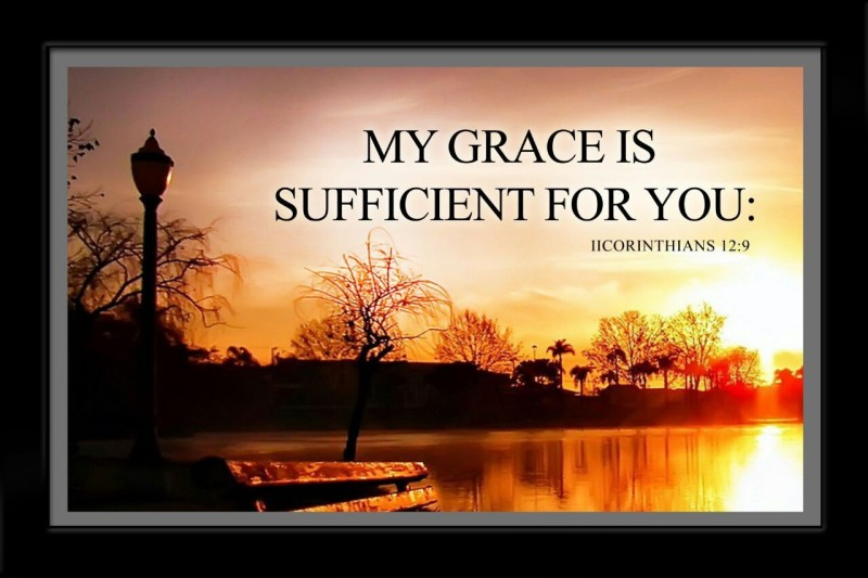 Elben Creatives My Grace Is Sufficient For You 2 Corinthians 12 : 9 Religious Frame