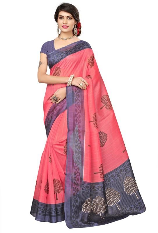 HITESH ENTERPRISE Printed Bhagalpuri Art Silk Saree(Pink)