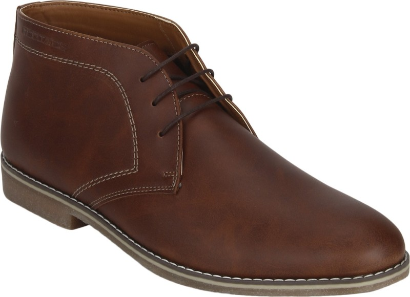 Red Tape Chukka Boots For Men(Tan)
