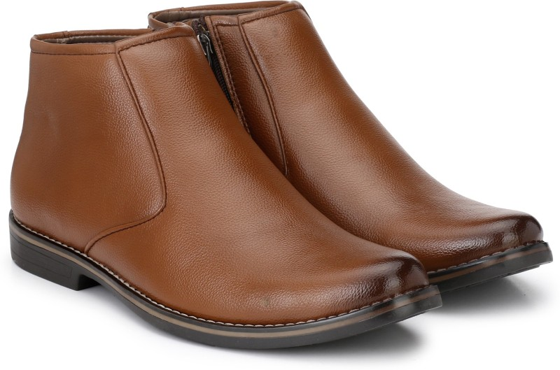Prolific Zipper Boots For Men(Tan)