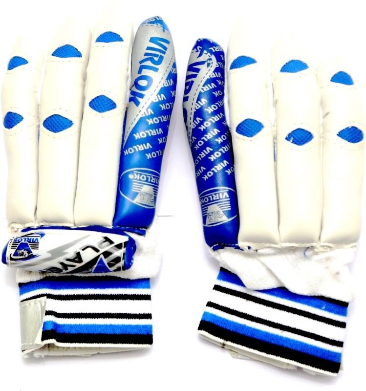 VIRLOK 6001 Batting Gloves (Men, White, Blue)