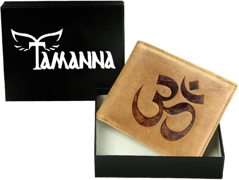 Tamanna Men Tan Genuine Leather Wallet(5 Card Slots)