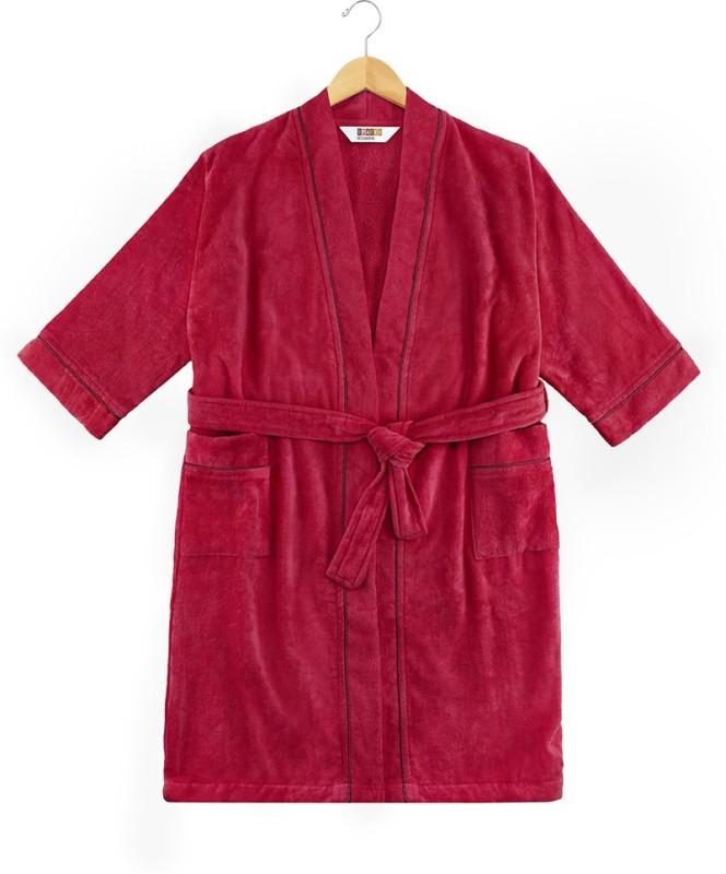 SPACES Scarlet-Wine Medium Bath Robe(1pcs Bath Robe, For: Men & Women, Scarlet-Wine)