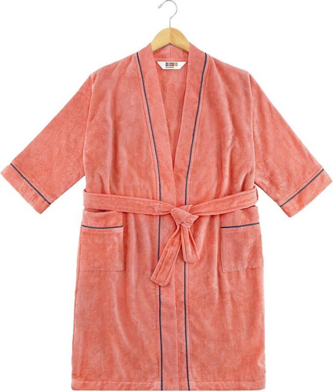 SPACES Coral Small Bath Robe(1pcs Bath Robe, For: Men & Women, Coral)