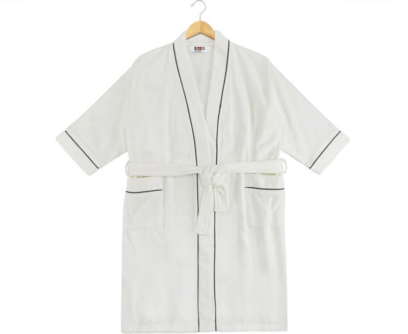 SPACES White Small Bath Robe(1pcs Bath Robe, For: Men & Women, White)