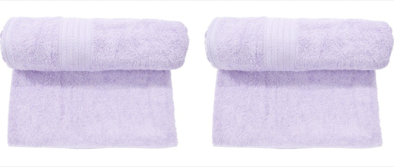 Bombay Dyeing Cotton 450 GSM Bath Towel(Pack of 2, Purple)