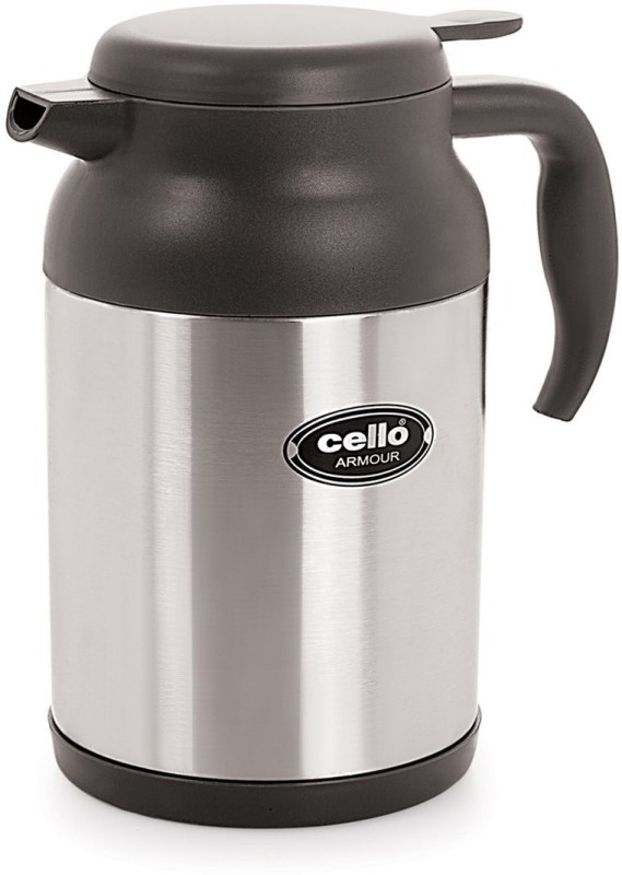 Cello Armour 1200 ml Flask(Pack of 1, Silver)