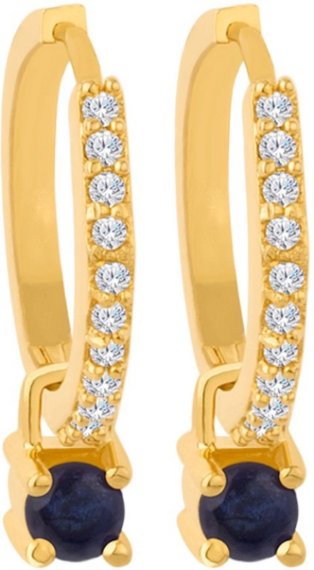 Voylla Versatile Changeable Studs Huggie Hoop Earrings Cubic Zirconia Brass Hoop Earring