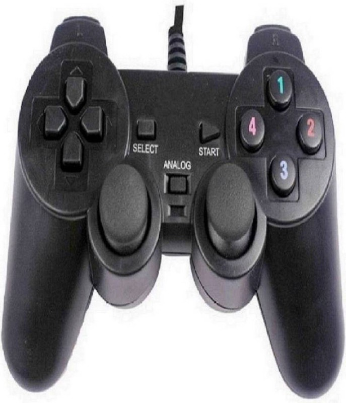 OYD USB Portable High Speed Gamepad for PC Gamepad / 2 Way Vibration Support (Black, For PC)  Gamepad(Black, For PC)