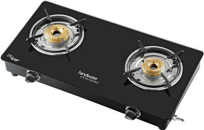 Hindware Brio 2B Steel Manual Gas Stove(2 Burners)